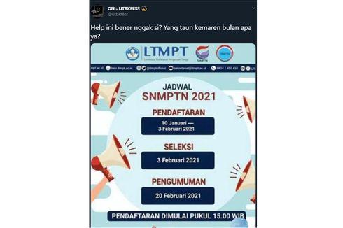 Ramai soal Pendaftaran SNMPTN 2021 Dimulai pada 10 Januari, Benarkah?