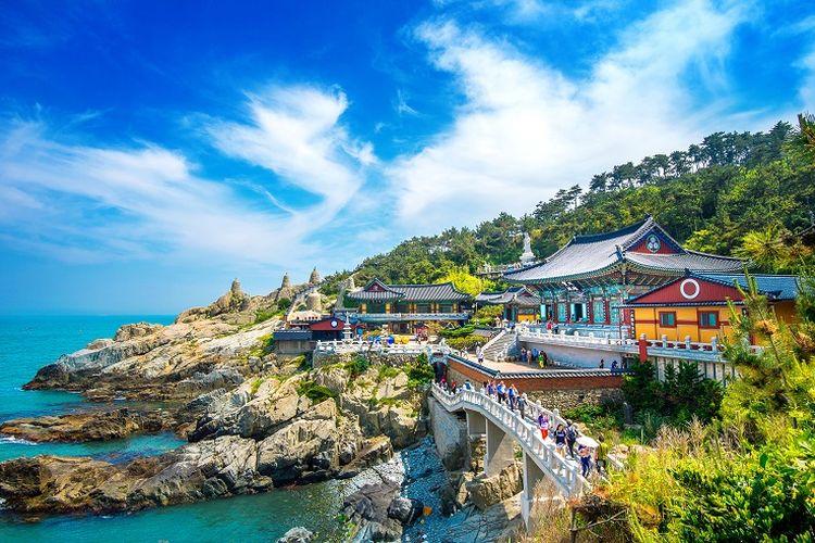 Ilustrasi Busan, Korea Selatan.