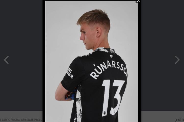 Alex Runarsson resmi diperkenalkan sebagai penjaga gawang baru Arsenal pada Senin (21/09/2020).