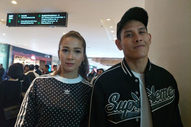 Andrea Dian dan Anggara Bimo saat ditemui di Grabd Indonesia, Thamrin, Jakarta Pusat, Jumat (15/3/2019).