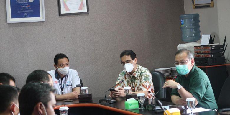 Dirjen PFM menghadiri Aplikasi Point Of Sales PT Pos Indonesia, Bandung, 6 Maret 2020.