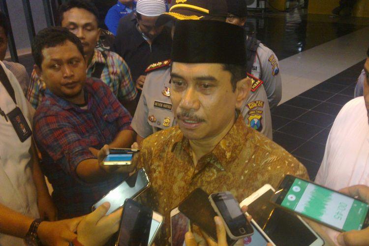 Kepala BNPT Komjen Pol Suhardi Alius saat ada di Kota Kediri, Jawa Timur, Minggu (2/4/2017).