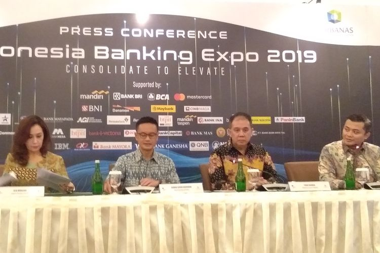 Konfrensi pers Indonesia Banking Expo (IBEX) 2019