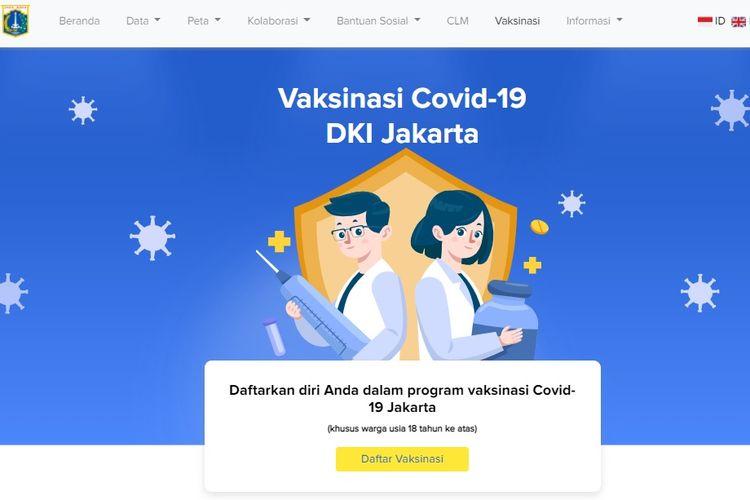 Cara Daftar Vaksinasi Covid-19 di Jakarta lewat Situs Resmi, Simak  Panduannya