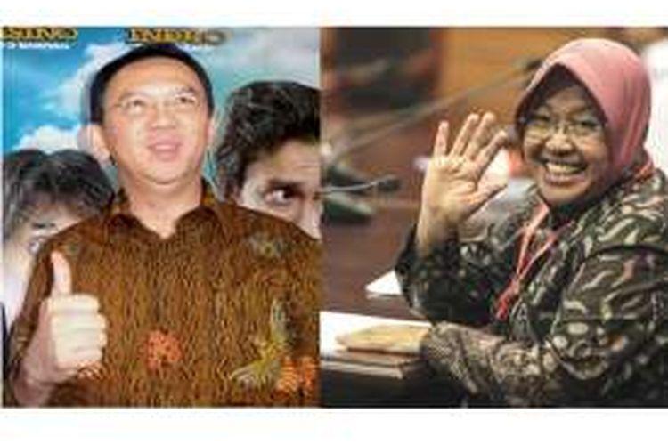 Gubernur DKI Jakarta Basuki Tjahaja Purnama dan Wali Kota Surabaya Tri Rismaharini
