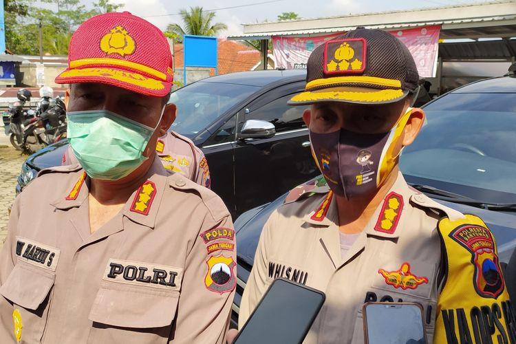 Kapolresta Banyumas Kombes Whisnu Caraka (kanan).