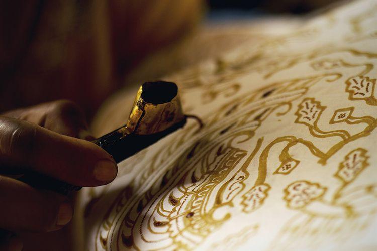 Ilustrasi batik tulis