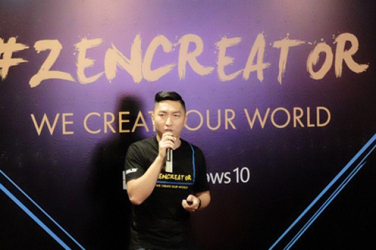 Country Marketing Manager Asus Indonesia, Galip Fu dalam acara ZenCreator di Jakarta, Rabu (15/3/2017)