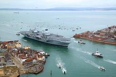 Diancam Beijing, Kapal Induk Inggris Tetap Masuk Laut China Selatan