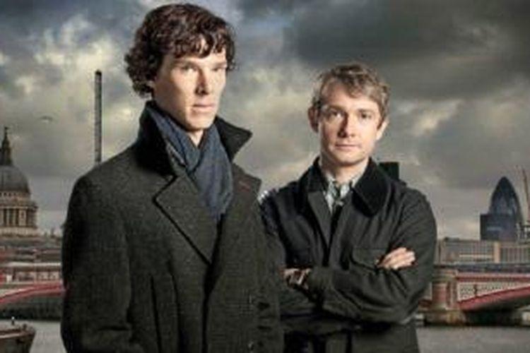 Sherlock Holmes dan Dr John Watson, dua karakter utama dalam lakon detektif Sherlock Holmes yang selalu direka ulang.