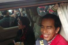 Iring-iringan Jokowi-Mega Belah Kemacetan Ciputat