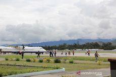 Sayap Pesawat Trigana Tergesek di Landasan Saat Mendarat di Bandara Wamena