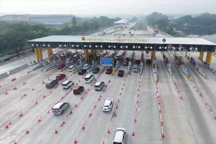 Gerbang Tol Cikampek Utama, Selasa (4/6/2019).