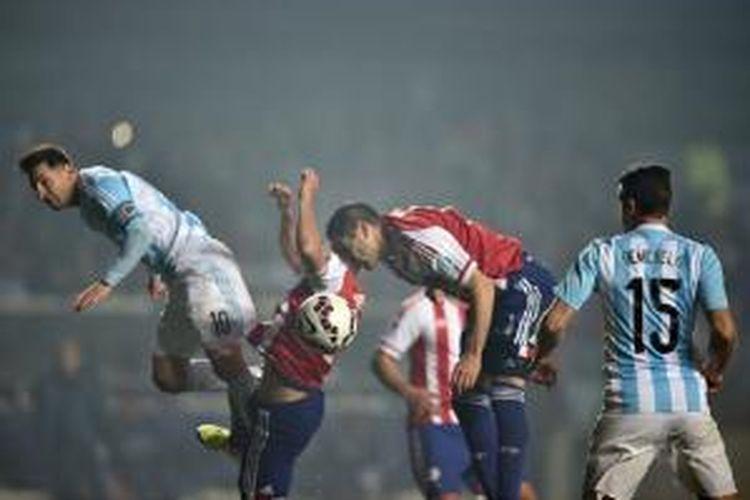 Argentina lolos ke final Copa America 2015 seusai menang 6-1 atas Paraguay, Rabu (1/7/2015) pagi WIB.