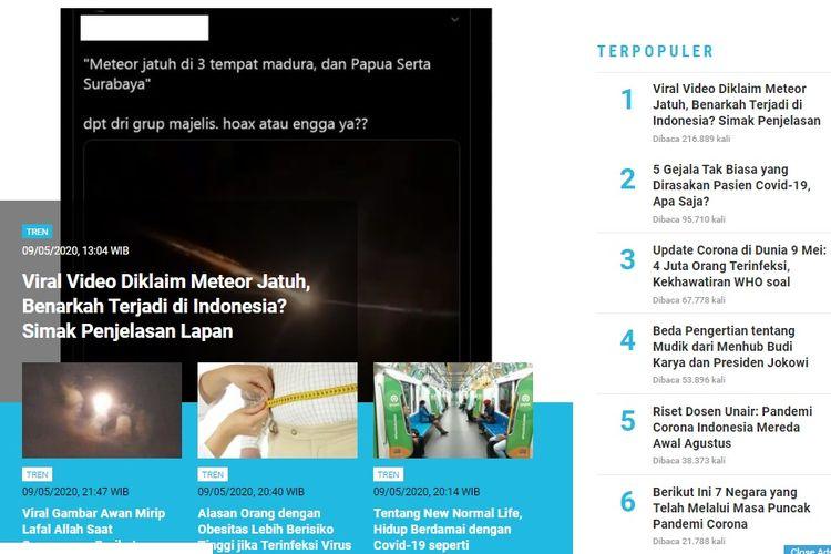 Populer Tren Viral Video Diklaim Meteor Jatuh Di Indonesia 5