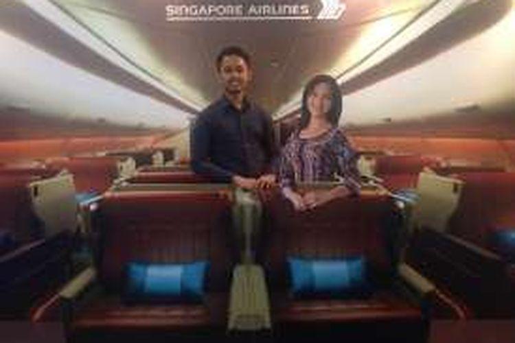 Singapore Airlines juga akan mengadakan kompetisi foto melalui platform media sosial di SIA Business Class Trick Art photo booth. Peserta dengan foto terbaik akan mendapatkan kesempatan untuk memenangkan miniatur pesawat Singapore Airlines A350.