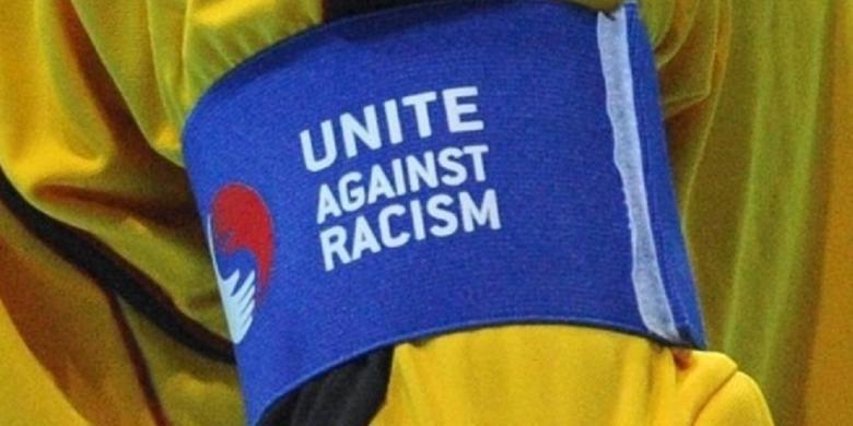Ilustrasi kampanye UEFA melawan rasialisme.