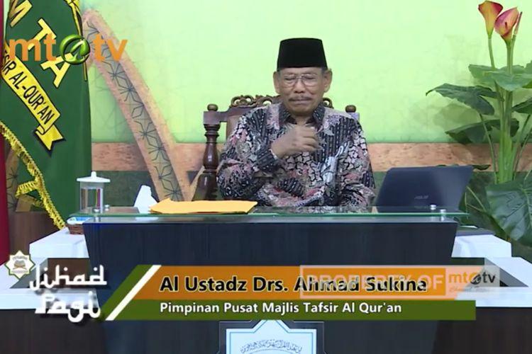 Pimpinan Pusat Majelis Tafsir Al Quran (MTA) Ahmad Sukina