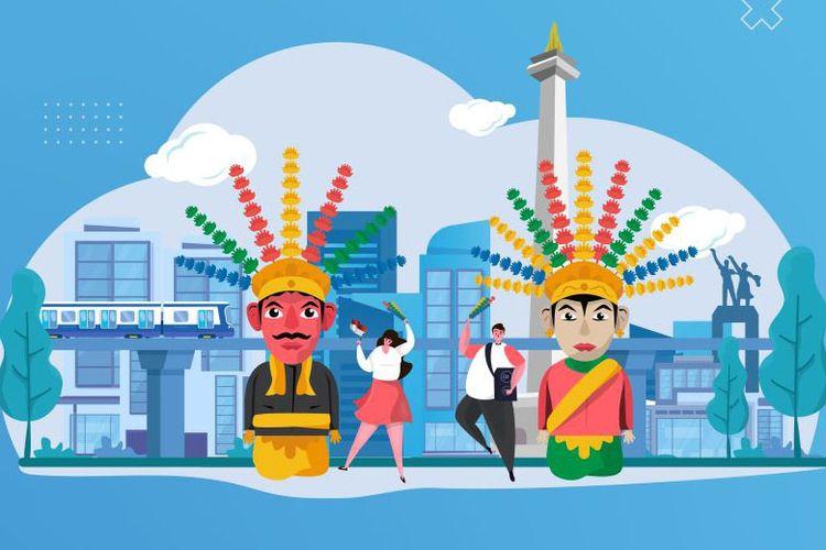 Ilustrasi hari ulang tahun Jakarta