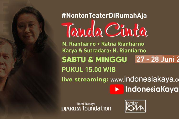 Poster pertunjukkan teater Tanda Cinta
