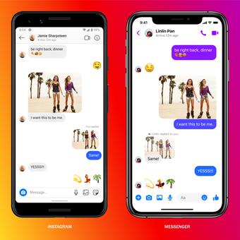 integrasi antara Instagram dengan Facebook Messenger