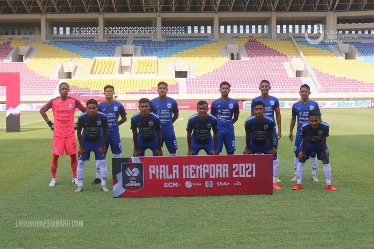 Susunan pemain PSIS Semarang saat melawan Tira Persikabo di laga kedua babak penyisihan Grup A Piala Menpora 2021 di Stadion Manahan Solo, Kamis (25/03/2021) sore.