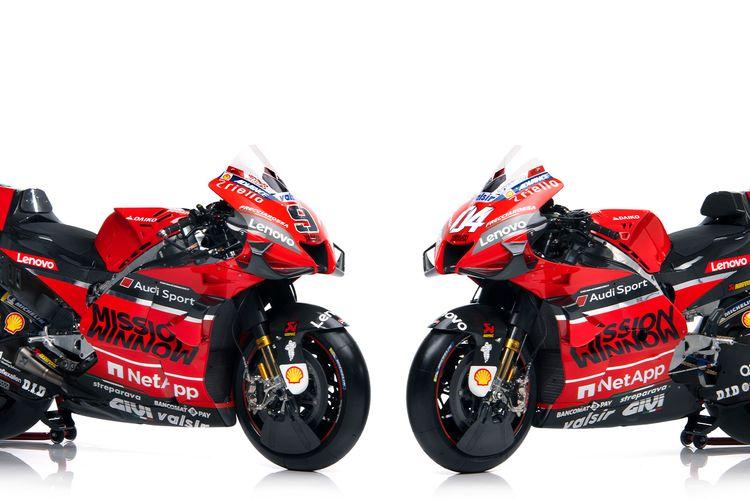 Motor Ducati Desmosedici GP20 untuk musim MotoGP 2020.