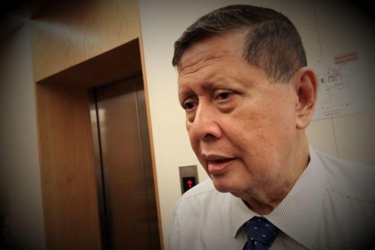 Mantan Pelapor Khusus PBB untuk Situasi HAM di Korea Utara, Marzuki Darusman ditemui usai acara diskusi yang digelar oleh Amnesti Internasional Indonesia, di kantor, Gedung HDI Hive Menteng, Jakarta, Pusat, Selasa (7/6/2017).