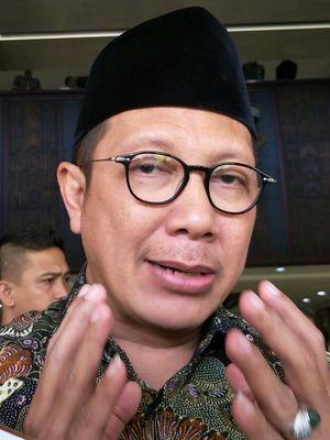 Menteri Agama RI Lukman Hakim Saifuddin ketika ditemui usai menerima Wakapolri Komjen Pol Syafruddin di Kantor Kementerian Agama RI, Jakarta, Rabu (4/4/2108).