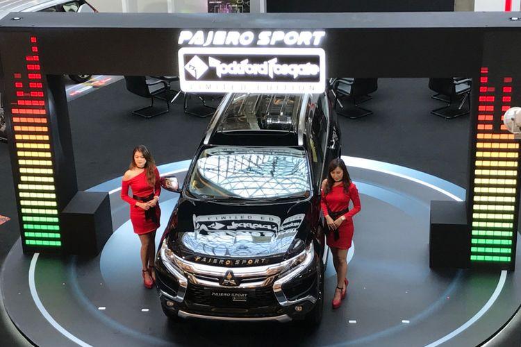 Mitsubishi kembali memamerkan dua model terbarunya, Mitsubishi Pajero Sport Rockford Fosgate Limited Edition dan Triton Athlete di Bandung, Jawa Barat, Rabu (2/5/2018).