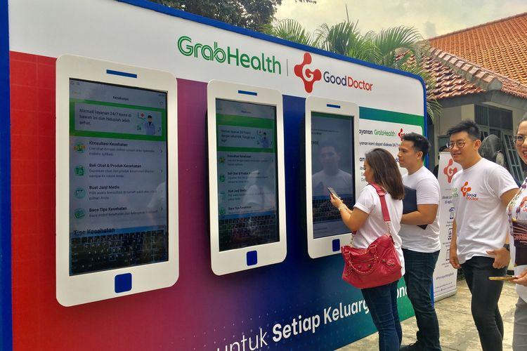 Grab Indonesia meluncurkan fitur terbarunya, GrabHealth Powered by Good Doctor di Jakarta, Selasa (10/12/2019).
