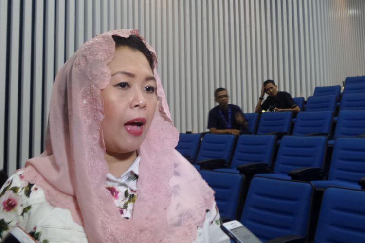 Direktur Wahid Institute, Yenny Wahid di Kampus Universitas Multimedia Nusantara (UMN), Tangerang, Kamis (19/10/2017/