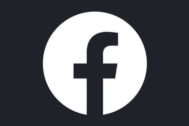 Ilustrasi logo Facebook Lite dengan mode gelap