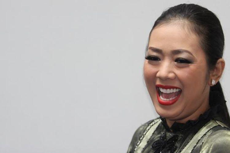 Soimah Pancawati hadir dalam jumpa pers program musik layar kaca DAcademy 2, di SCTV Tower, Jakarta Selatan, Kamis (5/2/2015).