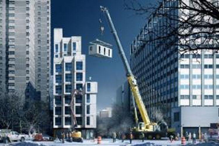 My Micro NY adalah kompleks mikro-apartemen pertama di kota itu. Apartemen ini terletak di 335 East 27th Street, dengan jumlah 55 unit yang ukurannya berkisar mulai 260 sampai 360 meter persegi.