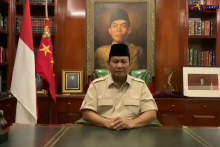 Capres nomor urut 02 Prabowo Subianto sampaikan harapannya terhadap para pendukung saat sidang sengketa pemilu di MK.