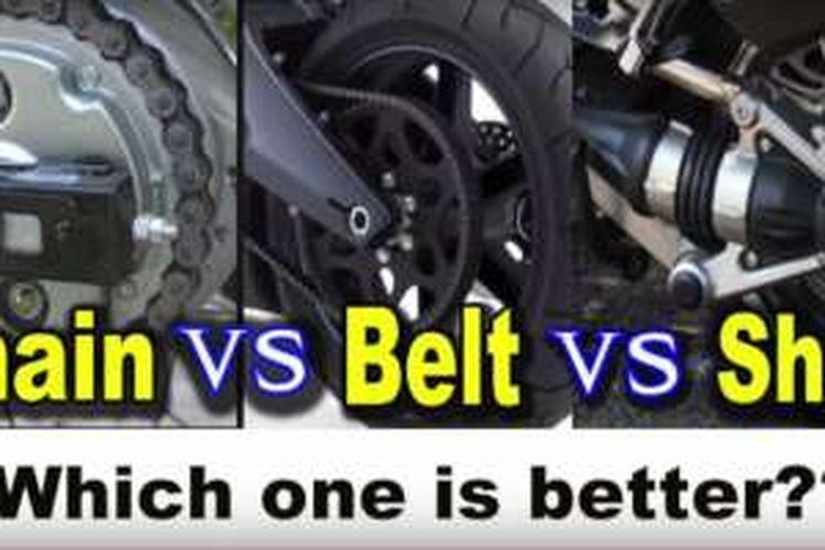 Ideal Mana Motor Dengan Rantai Belt Atau Shaft