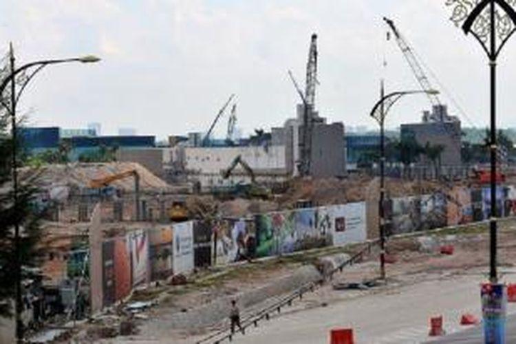 Salah satu proyek properti di Johor.