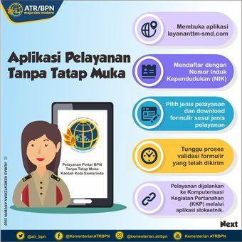 Tata cara penggunaan aplikasi pelayanan TTM Kantah Kota Samarinda.