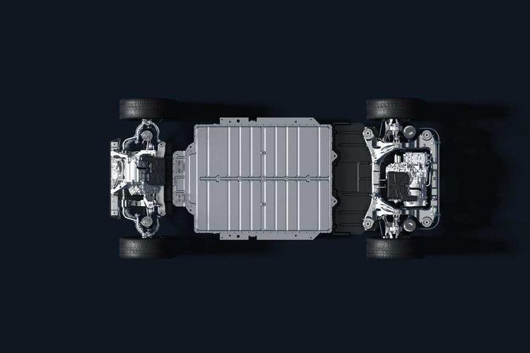 Konstruksi baterai mobil listrik Nio ET7