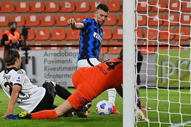 Laga Spezia vs Inter Milan pada pekan ke-32 Liga Italia di Stadion Alberto Picco, Kamis (22/4/2021) dini hari WIB.