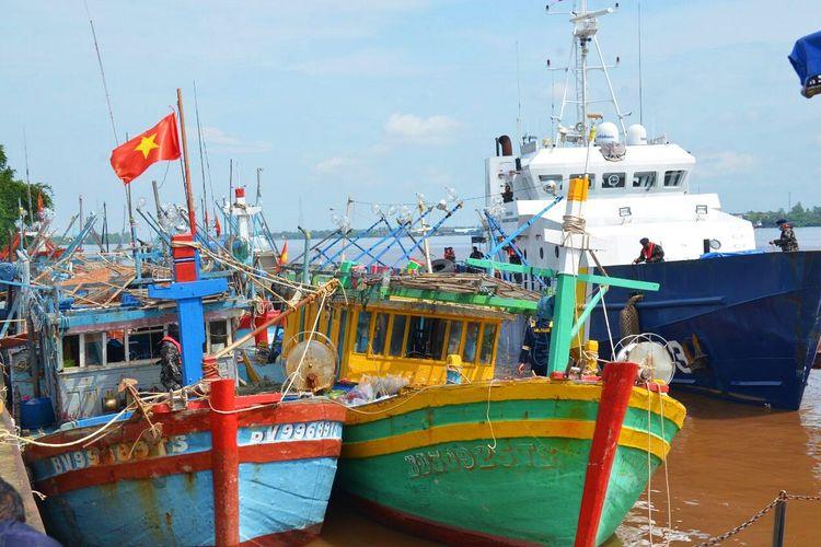 Barang Bukti Kapal Pencuri dari Vietnam.