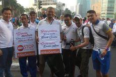 Aksi di CFD, Sahabat Sandiaga Uno Ajak Warga Jakarta Tersenyum dan Tak Kasar