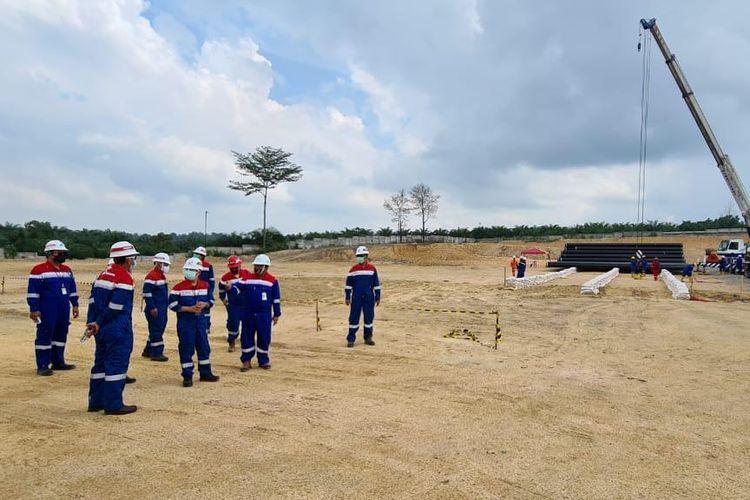 Pembangunan pipa minyak Blok Rokan