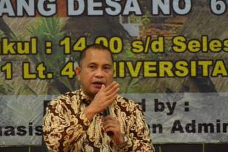 Menteri Desa, Pembangunan Daerah Tertinggal dan Transmigrasi, Marwan Jafar.