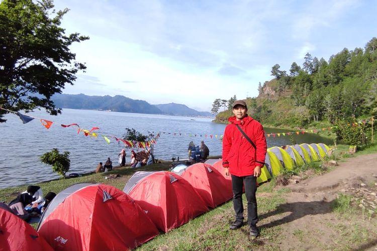 Satria, pemilik usaha paket wisata Gayo Camping Ground.
