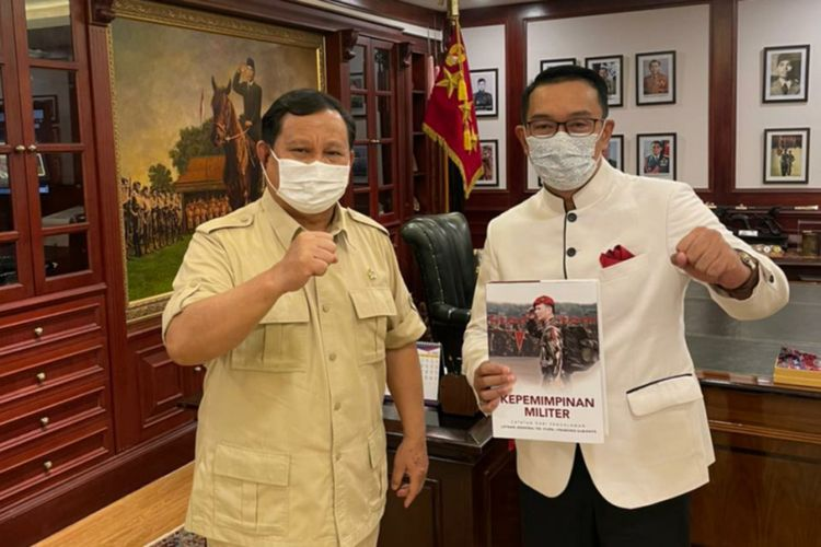 Gubernur Jawa Barat Ridwan Kamil menemui Ketua Umum Partai Gerindra Prabowo Subianto di Jakarta, Senin (21/6/2021).