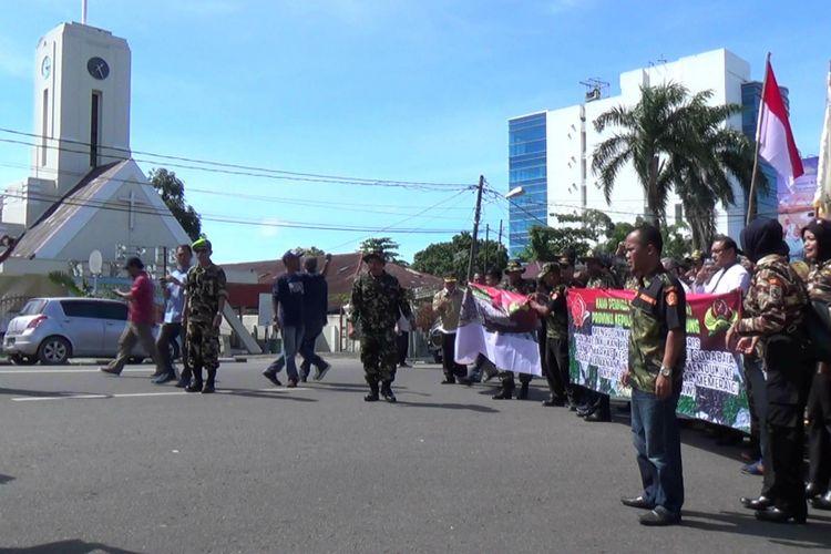 Gabungan ormas dan pemuka agama menolak aksi terorisme di Pangkal Pinang.