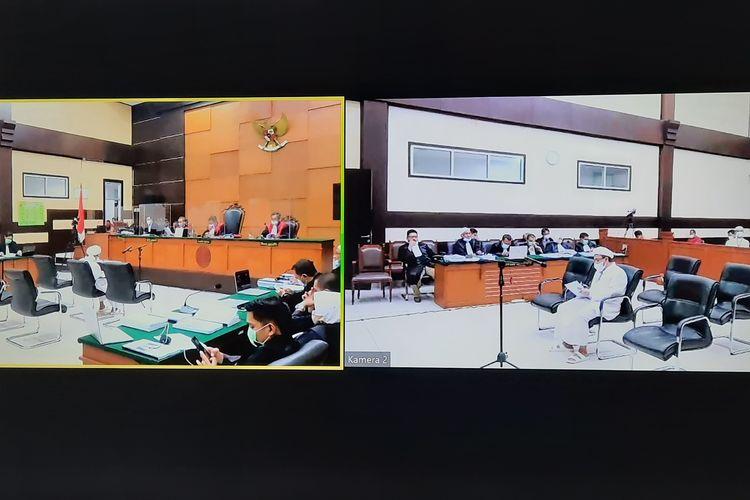 Jaksa penuntut umum (JPU) menanggapi pledoi atau nota pembelaan dari terdakwa Rizieq Shihab dan tim kuasa hukum untuk kasus kerumunan massa di Megamendung, Kabupaten Bogor.