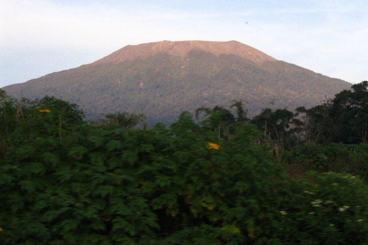 Mount Marapi in West Sumatra